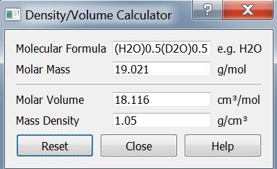density volume calculator tool sasview 4 2 0 documentation